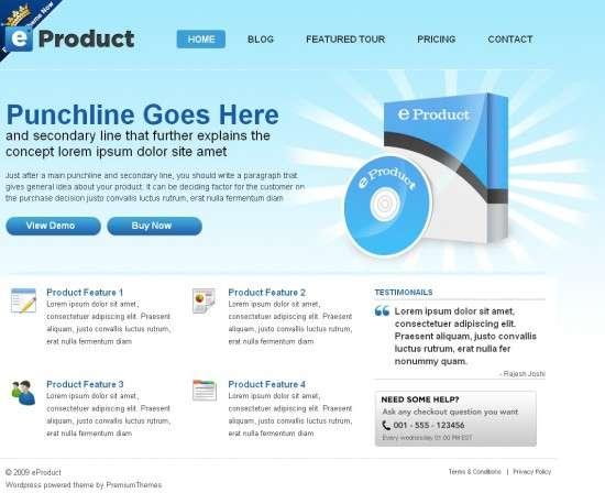 eproduct premiumthemes avjthemes 550x458 - eProduct Wordpress Theme