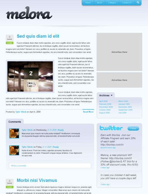 melora wordpress theme - Melora Wordpress Theme