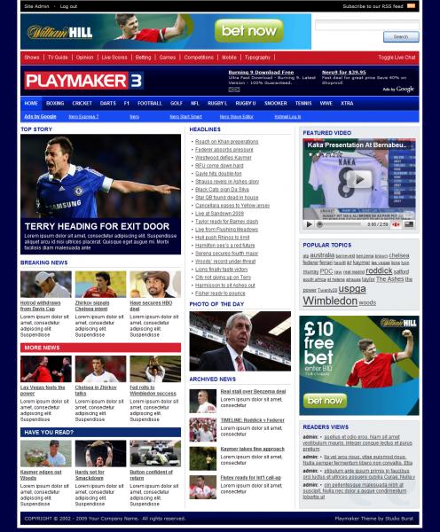 playmaker 3 avjthemescom stylewp theme - Playmaker 3 WordPress Theme