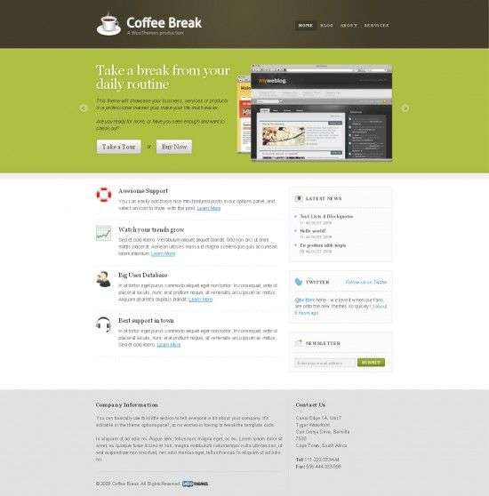 The Coffee Break Woothemes