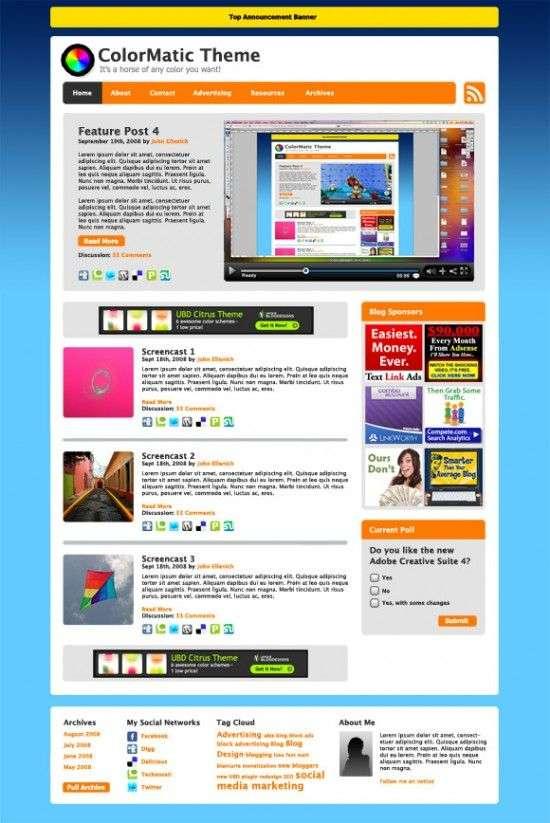colormatic wordpress theme 550x823 - ColorMatic Wordpress Theme