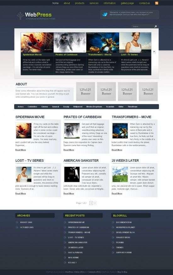 webpress wordpress theme 550x874 - WebPress Wordpress Theme