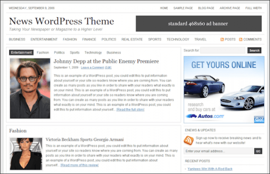 News Studiopress Theme