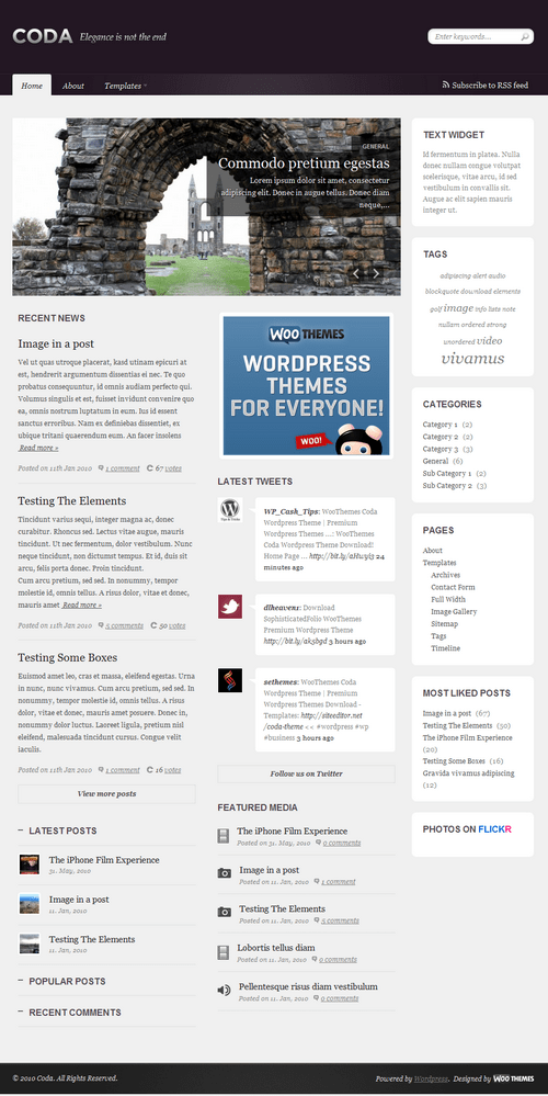 coda magazine woo wordpress theme - Coda Premium WordPress Theme