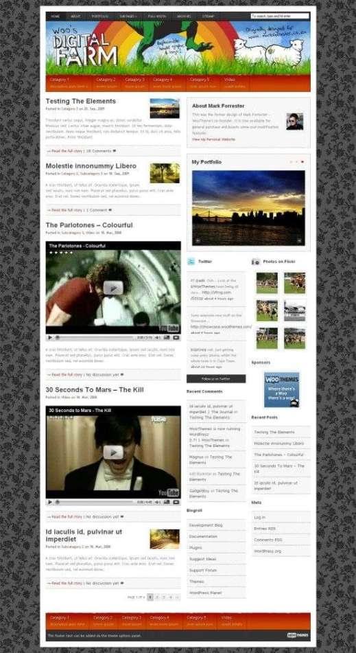 Digital Farm Wordpress Theme - AVJ Themes