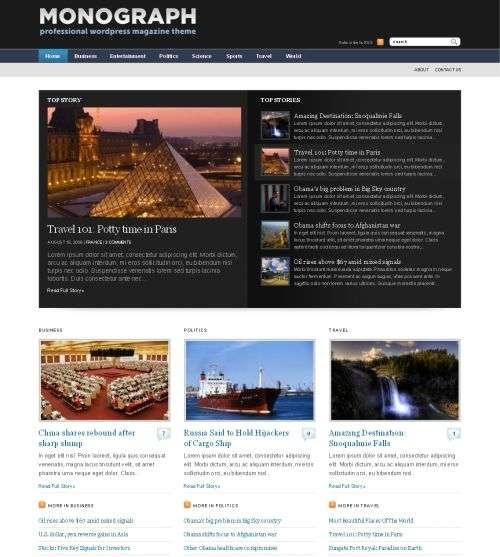 monograph wpzoom wordpress theme - Wpzoom Premium Wordpress Themes