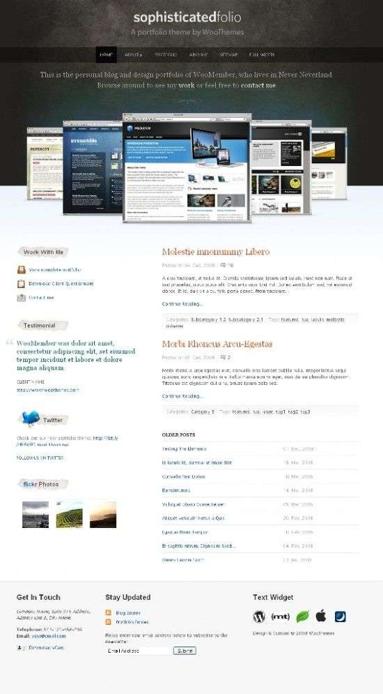 sophisticatedfolio wordpress theme 550x995 - Sophisticated Folio Wordpress Theme