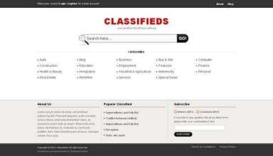 avjthemes classifieds templatic theme - Classifieds Wordpress Theme