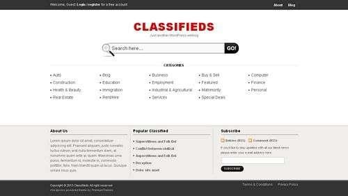 avjthemes classifieds templatic theme - Classifieds Wordpress Theme