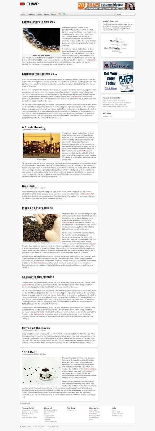 avjthemes richblog richwp theme - RichBlog Wordpress Theme