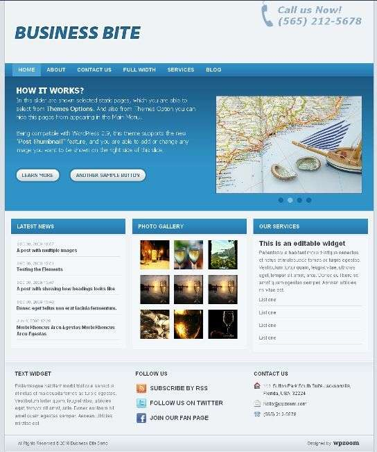 business bite wpzoom theme - Business Bite Wordpress Theme