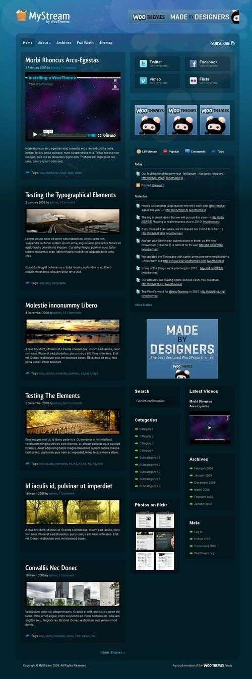 mystream woothemes wordpress theme - MyStream Wordpress Theme