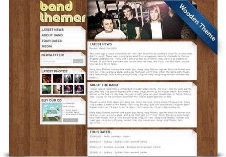 wooden wordpress theme - BandThemer Wordpress Themes
