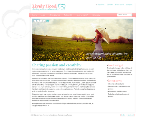lively hood viva wordpress theme - Lively Hood Wordpress Theme