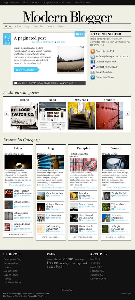 modern blogger wordpress theme - The Morden Blogger Premium Wordpress Theme