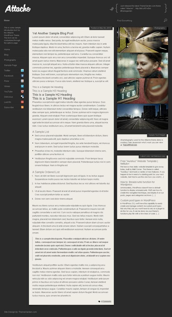 the attache wordpress theme - The Attache Premium Wordpress Theme