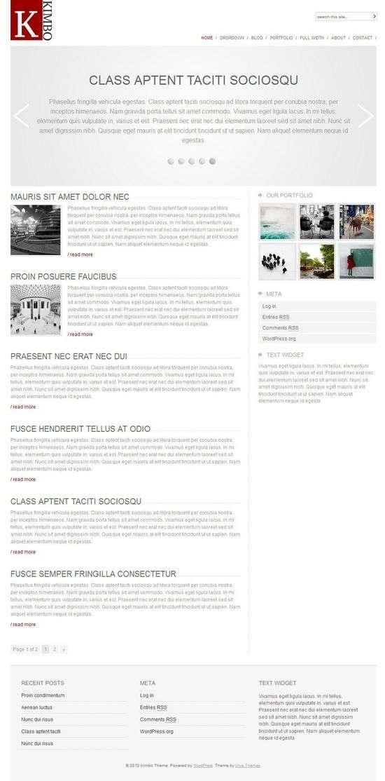 kimbo wordpress theme - Kimbo Premium WordPress Theme