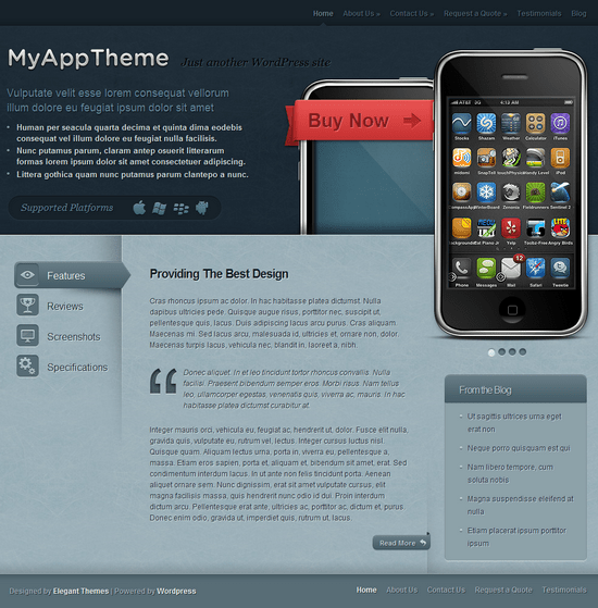 myapp wordpress theme - MyApp Premium WordPress Theme