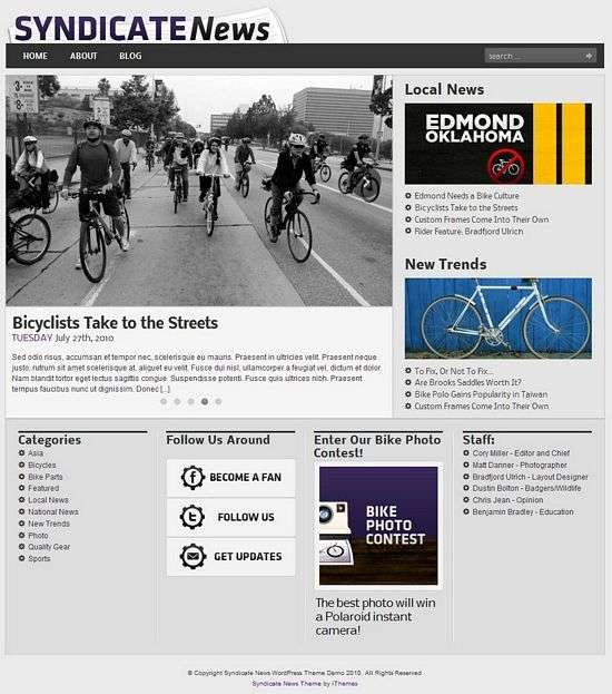 syndicate news wordpress theme - Syndicate News Premium WordPress Theme