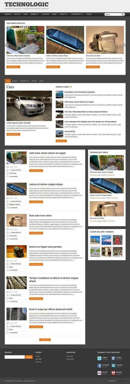 technologic wordpress theme - Technologic 2.0 Premium Wordpress Theme