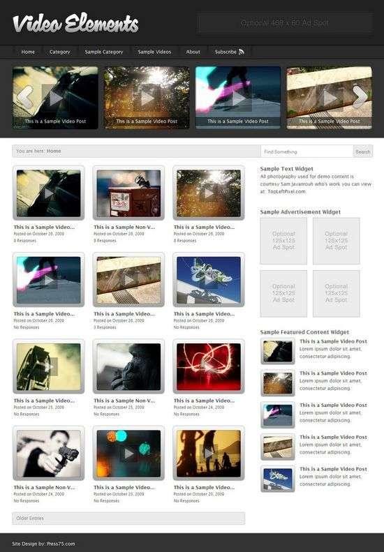the video elements wordpress theme - Video Elements v2.5 Premium WordPress Theme