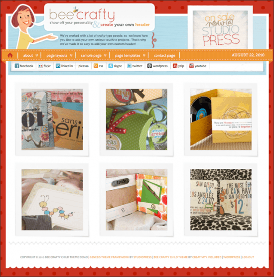 bee crafty wordpress child theme 550x556 - Bee Crafty Premium WordPress Child Theme