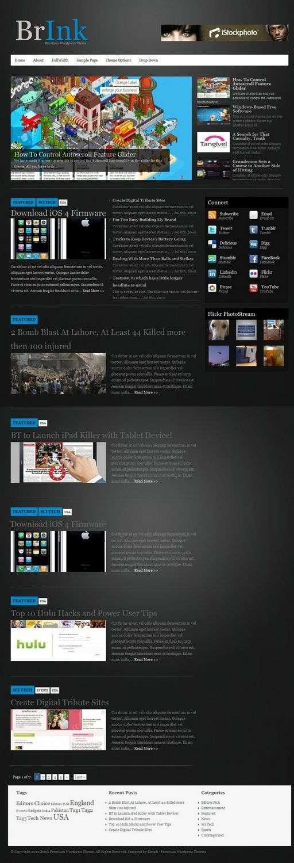 brink bleepli wordpress themes - BrInk Premium WordPress Theme