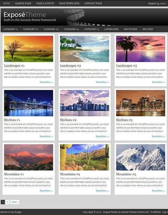 expose genesis child theme - Expose Premium WordPress Child Theme