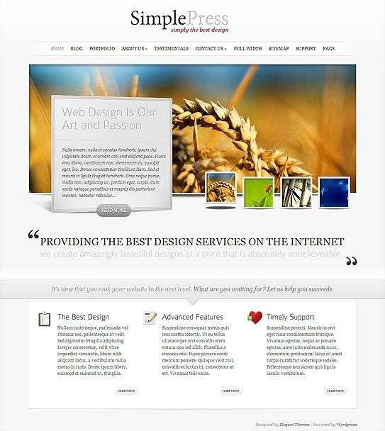 simplepress elegant themes - SimplePress Premium WordPress Theme