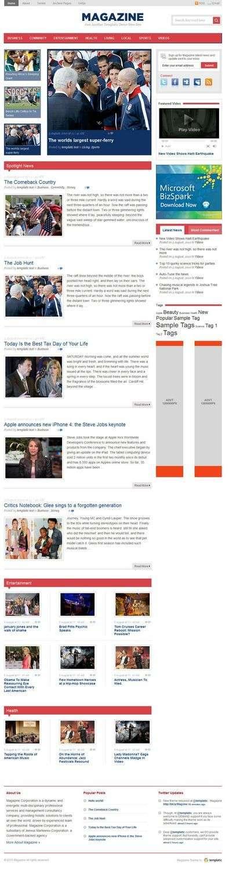 templatic magazine wordpress theme - Templatic Magazine Premium WordPress Theme