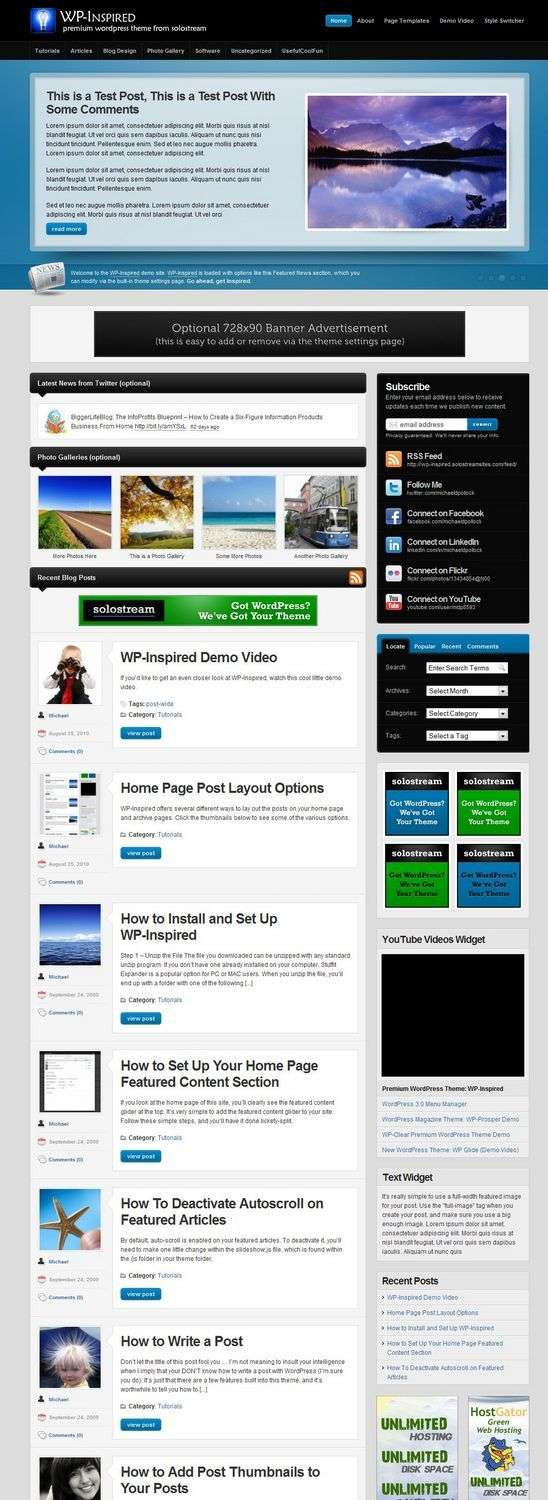 wp inspired wordpress theme - WP-Inspired Premium WordPress Theme