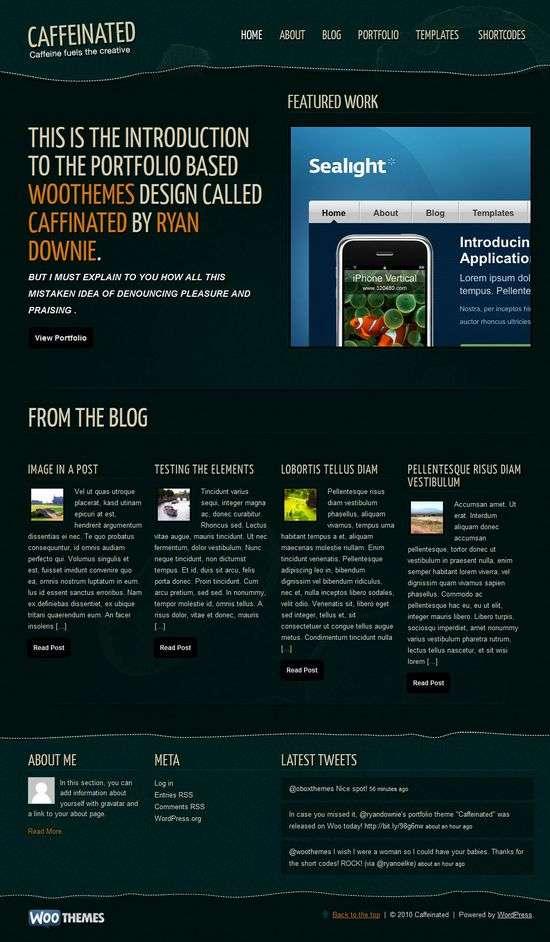 caffeinated wordpress theme - Caffeinated Premium WordPress Theme