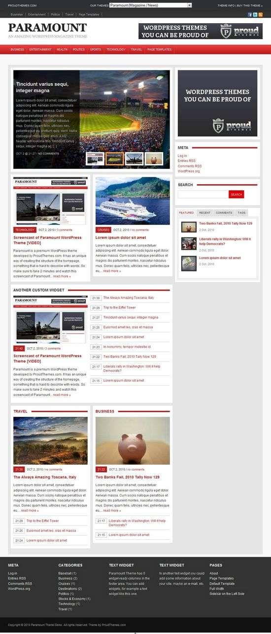 paramount wordpress theme - Paramount Premium WordPress Theme