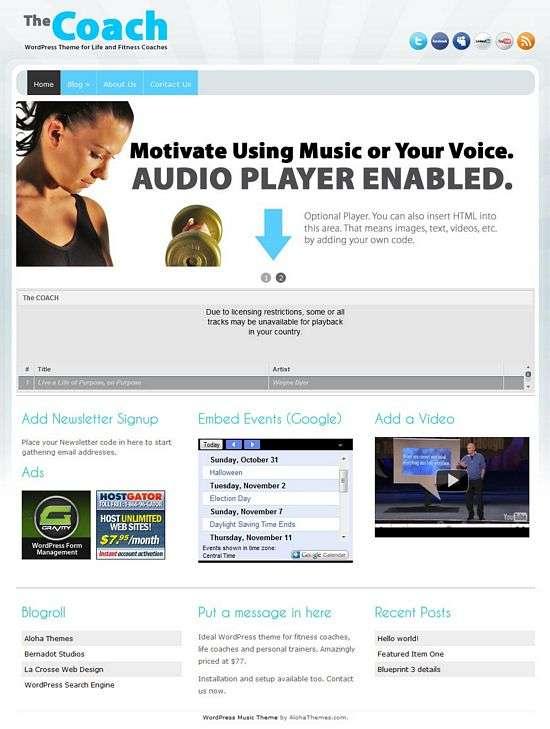 the coach wordpress theme - The Coach Premium WordPress Theme