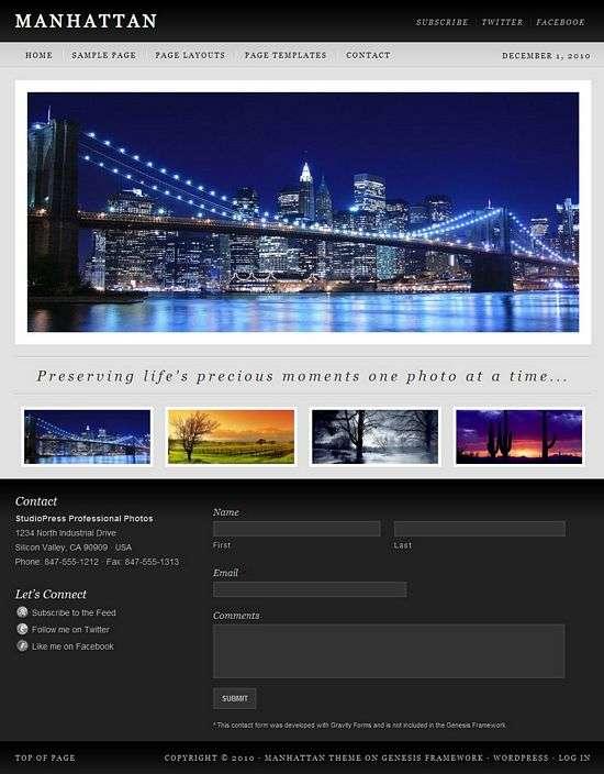 manhattan wordpress theme - Manhattan Premium WordPress Child Theme