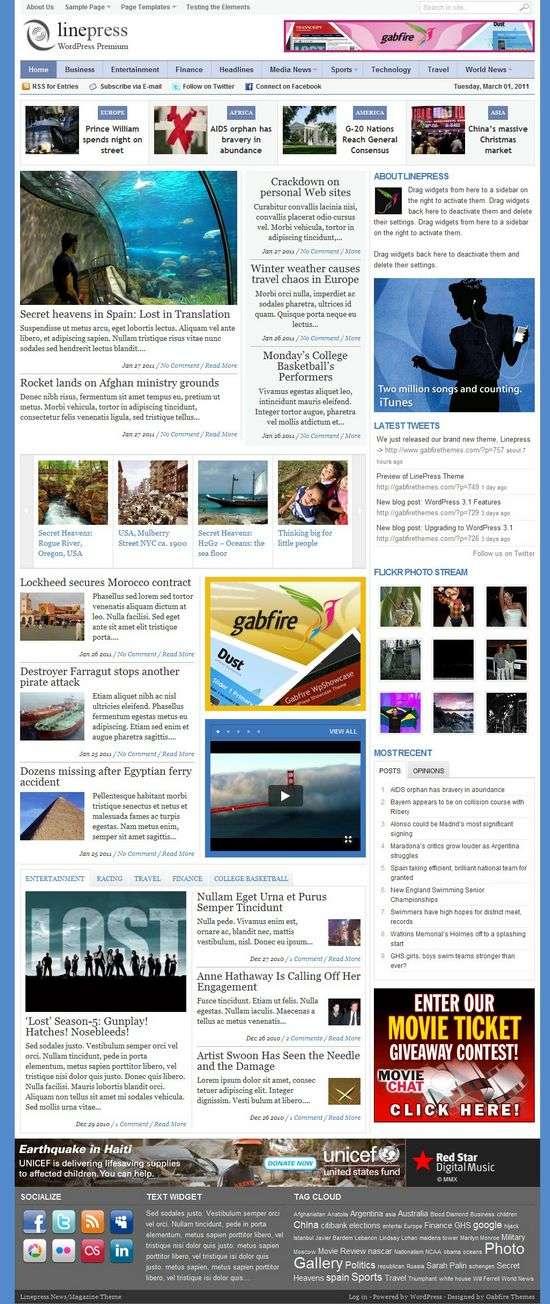 linepress wordpress theme - LinePress Premium WordPress Theme
