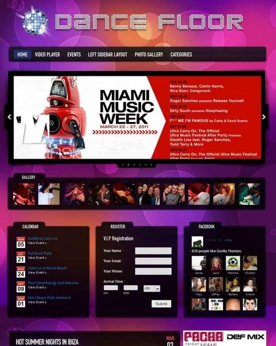 dance floor wordpress theme - Dance Floor Premium WordPress Theme