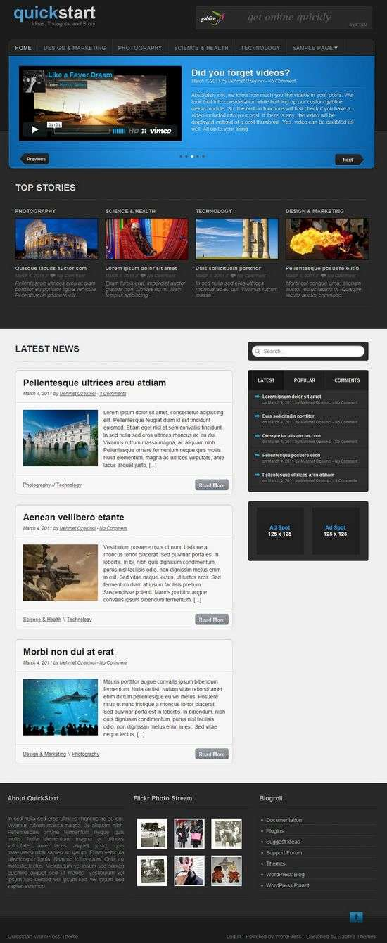 quickstart wordpress theme - QuickStart Premium WordPress Theme