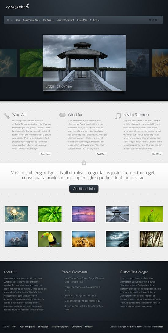 envisioned wordpress theme - Envisioned Premium WordPress Theme