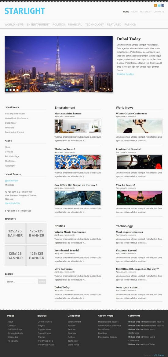 starlight wordpress theme - Starlight WordPress Theme