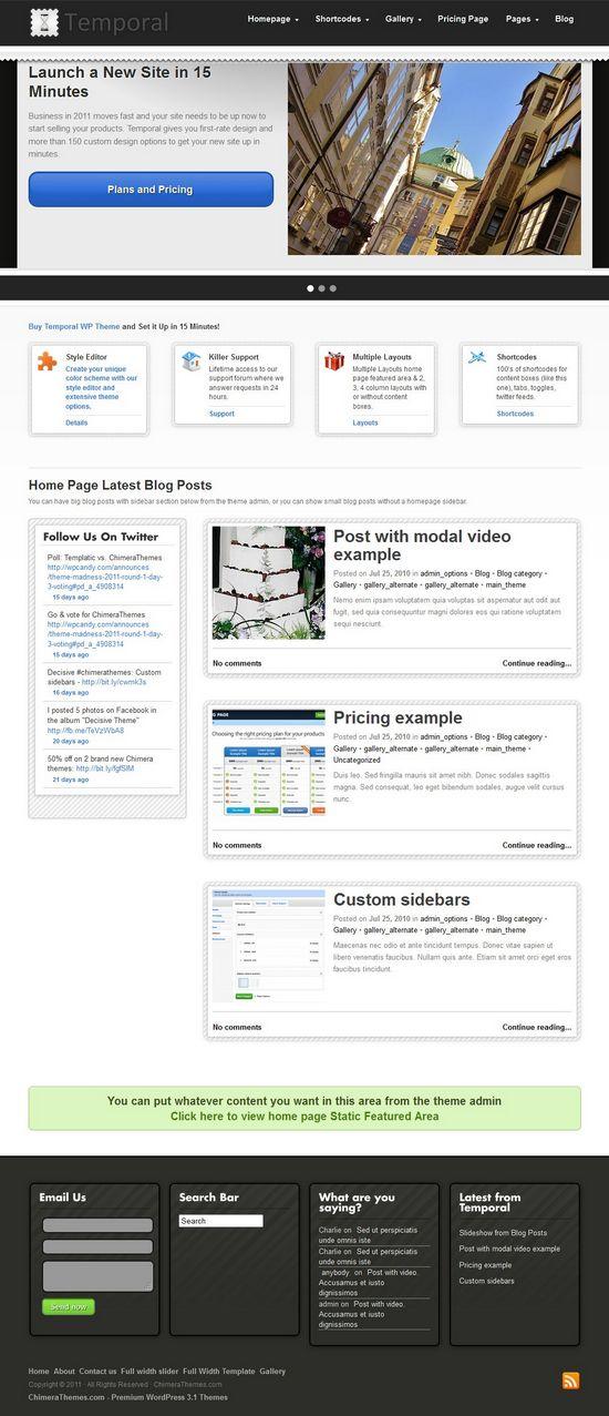 temporal wordpress theme - Temporal WordPress Theme