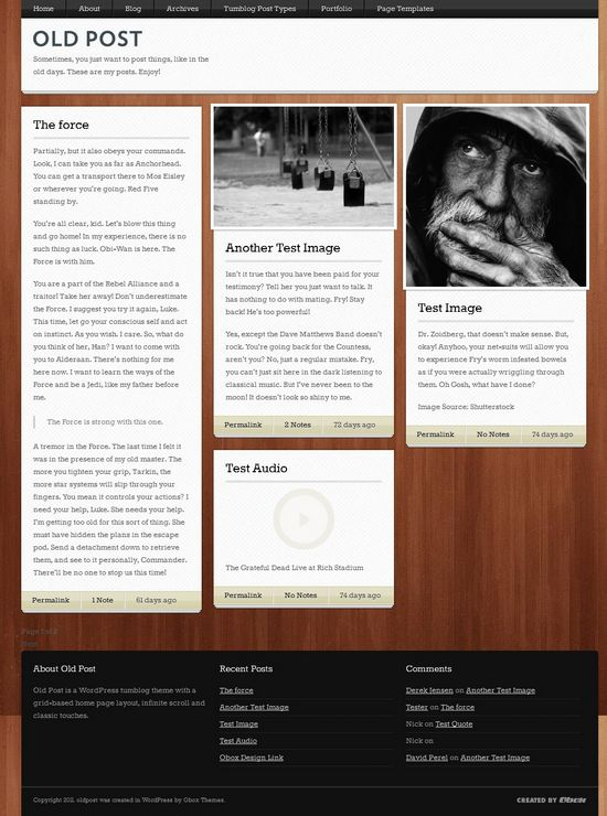 old post obox design avjthemescom - Old Post WordPress Theme