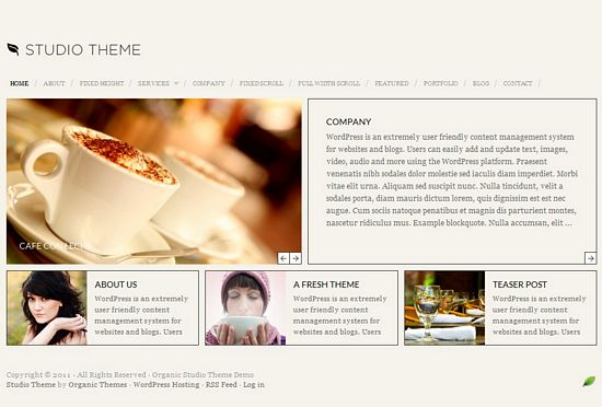 organic studio avjthemescom - Organic Studio WordPress Theme