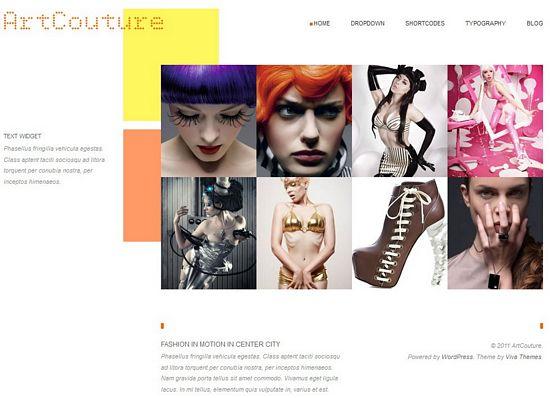 artcouture vivathemes avjthemescom - ArtCouture WordPress Theme