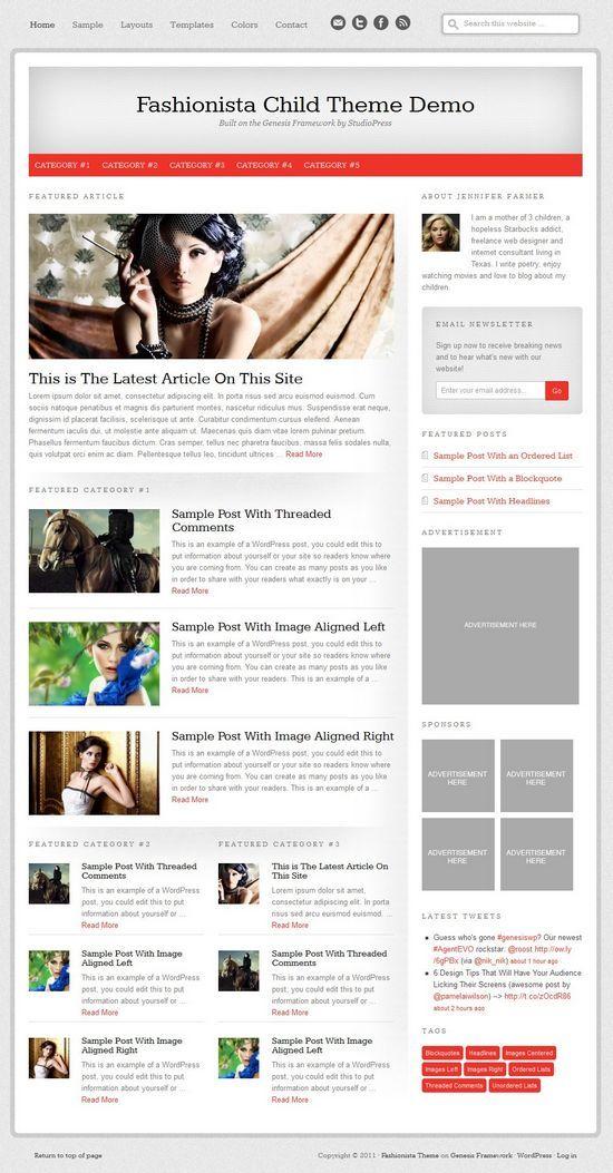 fashionista studiopress avjthemescom - Fashionista WordPress Theme