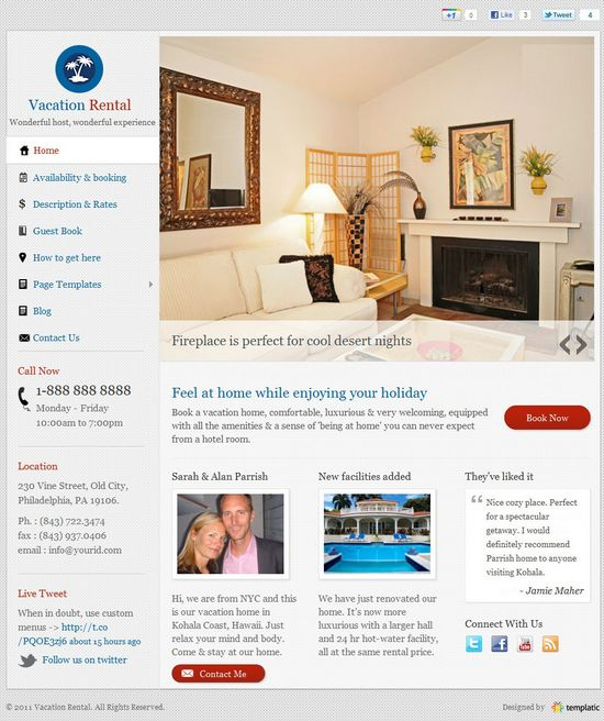 vacation rental templatic avjthemescom - Vacation Rental WordPress Theme