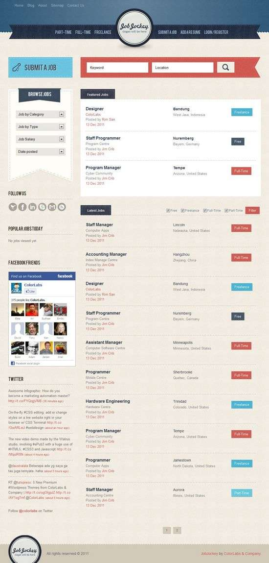 jobjockey colorlabs project avjthemescom - JobJockey WordPress Theme