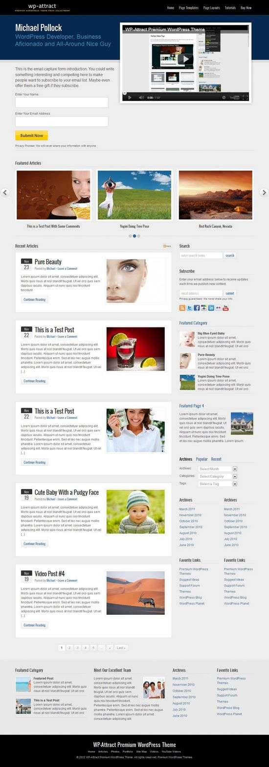 wp attract solostream avjthemescom 01 - WP-Attract WordPress Theme