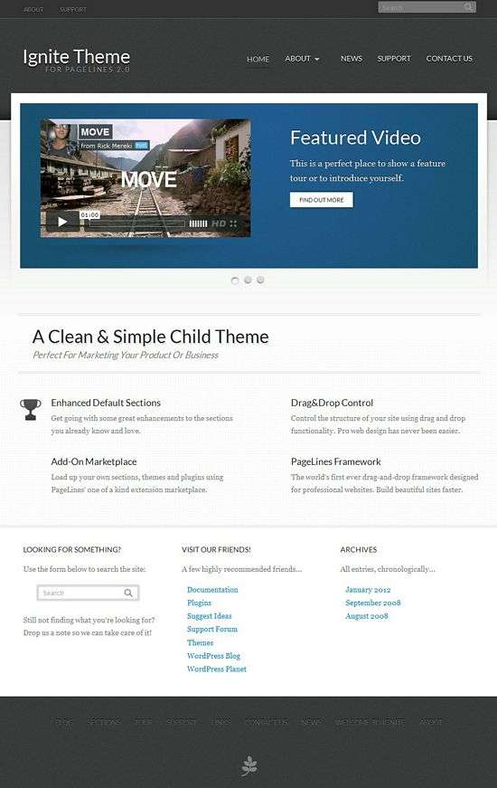 ignite pagelines avjthemescom - Ignite WordPress Theme