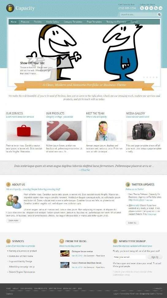 capacity gabfirethemes 01 - Capacity WordPress Theme
